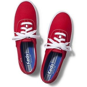 Keds Red Champion Sneakers Shoes Canvas Cotton